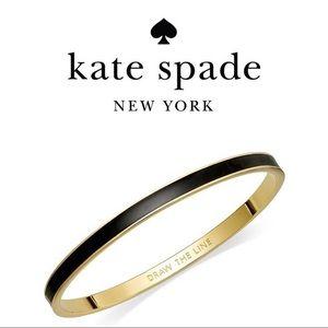 Kate Spade Set Black & White Gold Bangle Bracelets